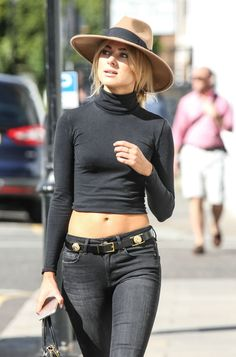 Kimberley Garner in a black tight shirt looking exquisitly Beautiful Kimberley Garner, Sexy Jeans, Casual Outfits, Fashion Outfits, Womens Fashion, Fashion Hair, High Fashion, Fashion Tips, Chelsea