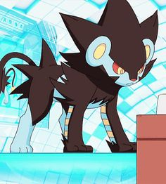 Type your favorite Pokemon in the Gif feature and post the first. Luxray Pokemon, Pokemon Oc, Pokemon Comics, Pokemon Funny, Pokemon Fan Art, Pokemon Stuff, Cute Pokemon Pictures, Pokemon Images, Nagano