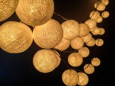 100 Bulbs White Cotton ball string lights for Patio,Wedding,Party and Decoration on Etsy, € 33,99