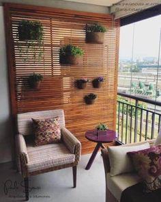 Balcony Privacy, Balcony Railing, Balcony Garden, Small Balcony Design, Small Balcony Decor, Ideas Terraza, Apartment Balconies, Elegant Homes, Small Apartments