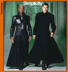 Simplicity 5386 Matrix-style coats, 2 views. Might come in handy to make an Organisation XIII coat...
