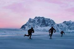 Skating on Frozen Sand in Northbound
