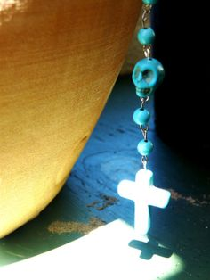 $48 one of a kind, hand crafted skull beaded rosary