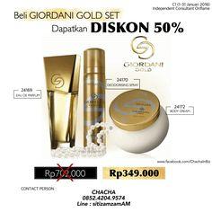 Beli Giordani Gold Set dapatkan diskon 50% #oriflame #january #2016 #ChachaInBiz