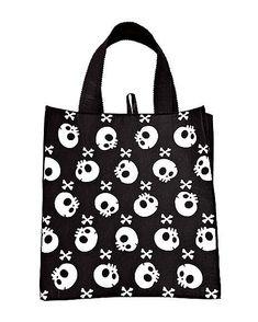 Skull Treat Bag - Spirithalloween.com Halloween Trick Or Treat, Halloween Treats, Reusable Grocery Bags, Skull Print, Costume Accessories, Raven, Trick Or Treat, Ravens, Crows