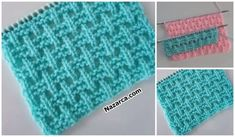 Baby Knitting Patterns, Knitting Stitches, Free Knitting, Crochet For Kids, Knit Crochet, Crochet Hats, Hand Embroidery Videos, Knitted Slippers, Wall Patterns