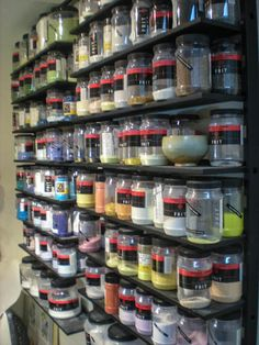 Storage: Frit shelves