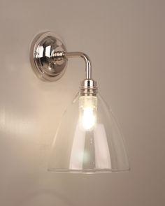 wellington clear glass shade swan neck bathroom wall light project