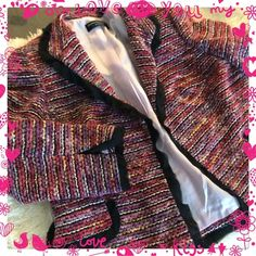 DANA BUCHMAN ladies boulle blazer Almost new condition, fully lined, beautiful Dana Buchman Jackets & Coats Blazers