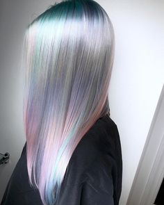 💿Shape Shifting Pastel💿 When You Want To Be Real Life Magic 🦄 By Michael & Melody Using Vivids Treated With Cute Hair Colors, Cool Hair Color, Hair Dye Colors, Opal Hair, Best Hair Dye, Hair Color And Cut, Coloured Hair, Rainbow Hair, Rainbow River