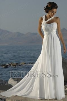 Sheath/Column Halter Chiffon Wedding Dress - IZIDRESS.com
