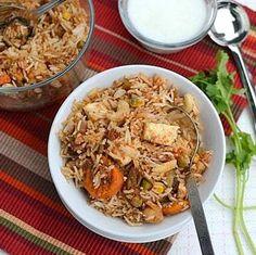 Vegetable Biryani in Slow Cooker
