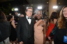 David O. Russell and Lupita Nyongo arrive at the 25th annual Producers Guild of America (PGA) Awards at the Beverly Hilton Hotel on Sunday, ...