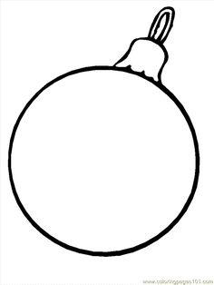 christmas ornaments printable coloring sheets | ornament - free ... - Christmas Ornaments Coloring Pages