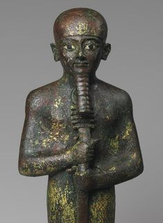 """""""Ptah, Third Intermediate Period, ca. 1070–712 B.C. Egyptian. Bronze, gold leaf, and glass. H. 11 1/2 in. (29.2 cm). The Metropolitan Museum of Art."""" ^**^ simen hestnæs, also known as i.c.s. vortex, or just simply vortex ^**^"""