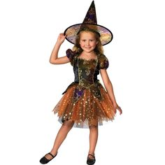 Детский костюм элегантной ведьмочки (26)