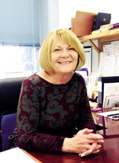 Wildwood Crest borough clerk Janelle Holzmer at her desk in Borough Hall.