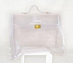 Hermès collection été 1996 - Kelly transparent / Spécial pour contrôle sécurité !
