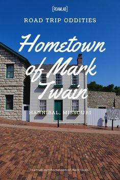 Before he adopted the pen name Mark Twain, Samuel Clemens grew up in Hannibal, Missouri—the template for Tom Sawyer and Huckleberry Fin's hometown. Today, the quiet town perched by the Mississippi is filled with callouts to Mark Twain and his famous creations. You can tour his home and learn about his complex relationship with the morals of his environment and the values he adopted later in life. In every quote, we are treated to the wit and wisdom of one of America's greatest storytellers. Hannibal Missouri, Pen Name, Wit And Wisdom, Back Road, Huckleberry, Mark Twain, Morals, Mississippi, Storytelling