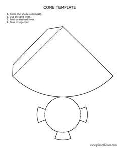 Printable, foldable 3D triangular pyramid template. Color