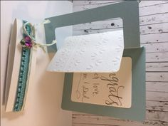Creative Cards Using Sizzix Dies: Wedding Flip Card Tutorial by Eileen Hull