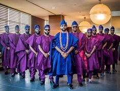 Wanna know how to dress in Agbada? Or you're simply checking out latest agbada styles for men! Traditional Wedding Attire, African Traditional Wedding, Traditional Outfits, Traditional Weddings, Nigerian Men Fashion, African Men Fashion, African Attire, African Dress, African Outfits