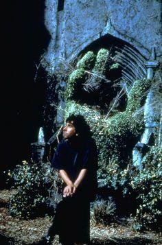 Tim Burton on the set 'Edward Scissorhands'.