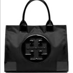 Tory burch Ella large tote black Great bag! Still in almost perfect condition. I say almost because I've used it a few times. Tory Burch Bags Totes