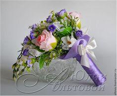 Свадебные цветы ручной работы. Ярмарка Мастеров - ручная работа Букет-дублёр каскадный фиолетовый. Handmade.
