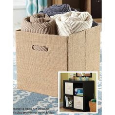 Better Homes And Gardens inchW x inchD x 15 inchH Collapsible Fabric Cube Storage Bin, Multiple Colors Collapsible Storage Cubes, Cube Storage, Storage Bins, Primitive Dining Rooms, Primitive Homes, European Home Decor, Indian Home Decor, Cube Organizer, Fabric Storage