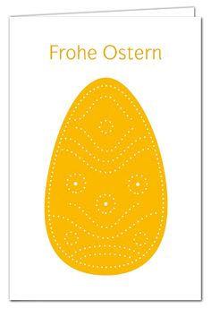 Uberlegen Osterkarte Zum Prickeln   Prickei Orange   Frohe Ostern   Basteln Mit  Kindern