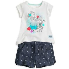 Disney Animators' Collection Frozen Short Set for Girls - Size NWT Disney Outfits, Kids Outfits, Disney Clothes, Short Tops, Short Set, Frozen Short, Anna Hair, Toddler Dolls, Disney Girls