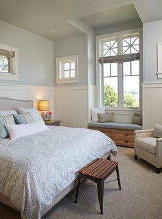 Bedroom Wainscoting - Francesca Owings Interior Design.