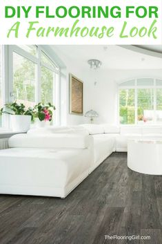 DIY flooring that will give you a farmhouse look.  It's waterproof, too.  TheFlooringGirl.com