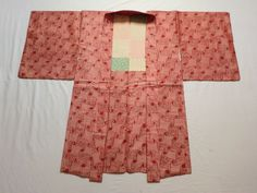 Japanese Antique Kimono Haori Silk Light Red Meisen P070707 | eBay