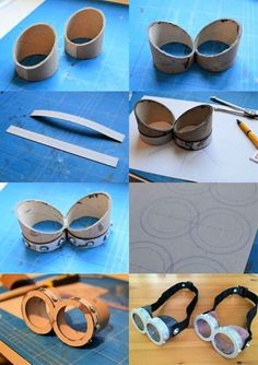 15 DIY Minion Craft - Coole Bastelideen - Projects to Try - Steampunk Hut, Steampunk Goggles, Steampunk Costume, Minion Glasses, Minion Goggles, Goggles Glasses, Easy Crafts To Make, Crafts To Sell, Fun Crafts
