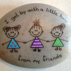 Painted Rock Ideas - Do you need rock painting ideas for spreading rocks around your neighborhood or the Kindness Rocks Project? Here's some inspiration with my best tips! Pebble Painting, Pebble Art, Stone Painting, Stone Crafts, Rock Crafts, Arts And Crafts, Rock And Pebbles, Rock Painting Designs, Hand Painted Rocks