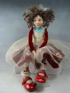 """RUBY VELVET"" by Dianne Adams I love her dolls. I have some and they are marvelous."
