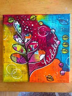 Mini collage canvas class with the fabulous @BirgitKoopsen | by Tr4cy1973