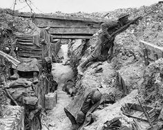 In The Trenches Of World War II Vintage 8x10 Reprint Of Old Photo