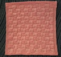 Basketweave Preemie Baby Blanket free knitting pattern