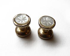 Vintage cuff links  Mother of pearl Cufflinks by FrenchVintageShop, €12.00