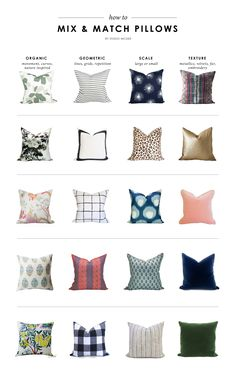 How to Mix & Match Pillows || Studio McGee