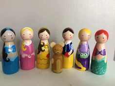 Peg people princesses by LittledolldesignsGB on Etsy