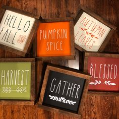 Fall And Thanksgiving Wood Framed Signs Blessed Harvest Pumpkin Spice & fall und erntedank-holz gestaltete zeichen gesegnetes ernte-kürbis-gewürz & & Signs thanksgiving decorations Thanksgiving Crafts, Thanksgiving Decorations, Fall Crafts, Holiday Crafts, Fall Craft Fairs, Harvest Decorations, Christmas Diy, Diy Crafts, Holiday Decor