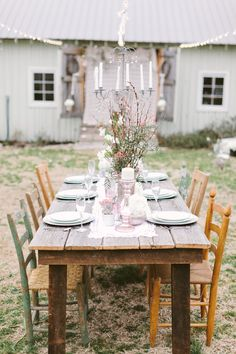 Farm table and chairs - envisage something like this