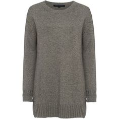 French Connection Core Cashmere-Blend Oversized Jumper , Mid Grey Marl