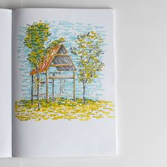Nature lanscapes sketchbook.   #naturesketch #sketchbook #sketch #promarker #markers #naturelover #rzeczowki #things #artist #artjournal