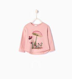 Mushroom T-shirt-T-shirts-Baby girl | 3 months - 3 years-KIDS | ZARA United States