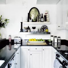 Love black and white kitchens! Sleek and classic